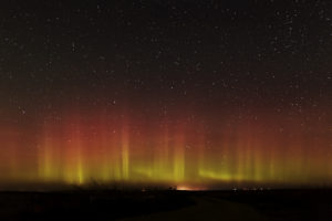 Aurora over the Badlands